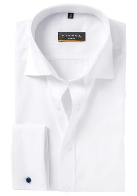 ETERNA Slim Fit overhemd dubbele manchet, wit