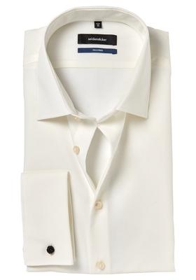 Seidensticker Tailored Fit, dubbele manchet, beige