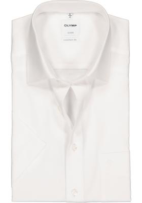 OLYMP Luxor comfort fit overhemd, korte mouw, AirCon wit