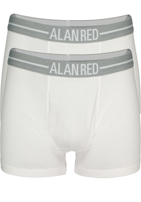 Alan Red boxershorts, 2-pack, wit