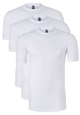 Actie 3-pack: Alan Red T-shirts Virginia, O-hals, wit
