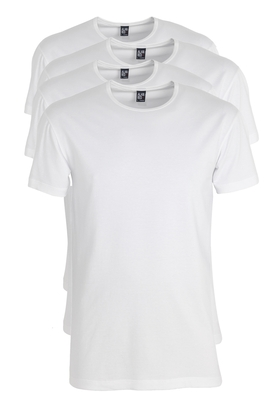 Actie 4-pack: Alan Red stretch T-shirts Ottawa, O-hals, wit