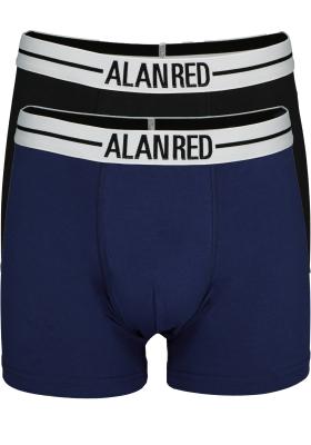 Alan Red boxershorts, 2-pack, zwart / blauw