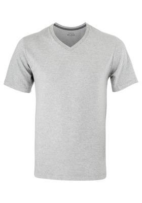 Schiesser heren lounge t-shirt (V-hals), grijs