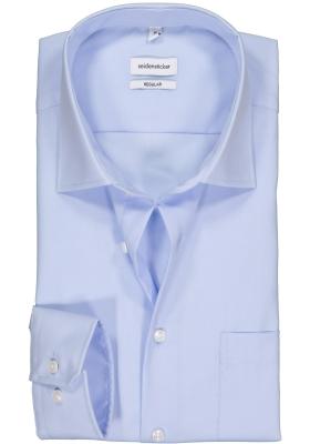 Seidensticker Regular Fit overhemd, licht blauw