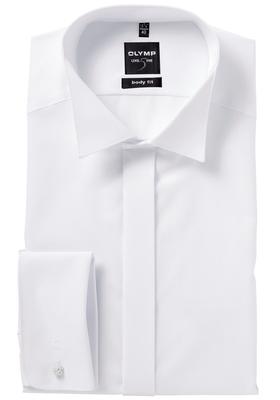 OLYMP Level 5 Smoking overhemd, mouwlengte 7, wit (wing)
