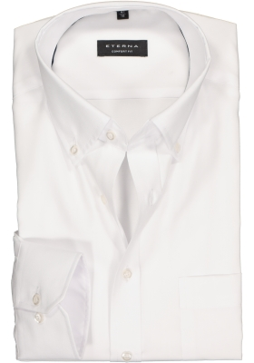 ETERNA Comfort Fit overhemd, wit Oxford (button-down)