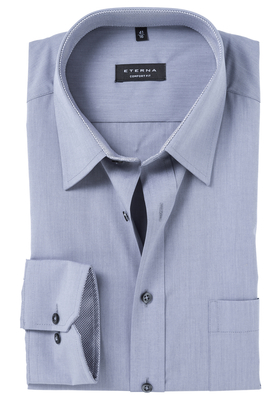 ETERNA Comfort Fit overhemd, licht grijs  (contrast)
