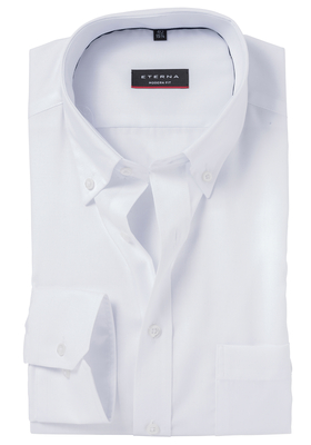 ETERNA Modern Fit overhemd, wit Oxford (Button Down)