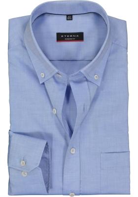 ETERNA Modern Fit overhemd, blauw fijn Oxford (Button Down)