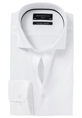 Michaelis Slim Fit overhemd, wit (Twill)