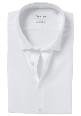 Calvin Klein Slim Fit overhemd (Bari), wit