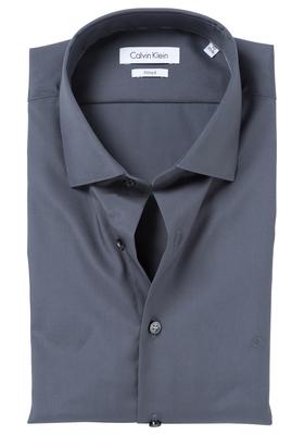 Calvin Klein Fitted overhemd (Cannes), donker grijs