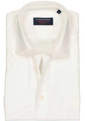 CASA MODA comfort fit overhemd, korte mouw, beige