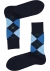 Burlington Manchester herensokken, katoen, donker- met lichtblauw