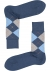 Burlington Manchester herensokken, katoen, blauw