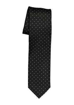 OLYMP smalle stropdas, zwart gestipt