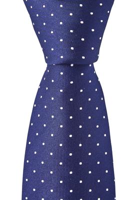 OLYMP smalle stropdas, marine blauw gestipt