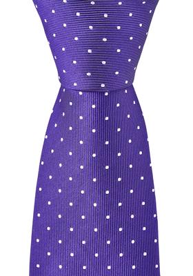 OLYMP smalle stropdas, paars gestipt