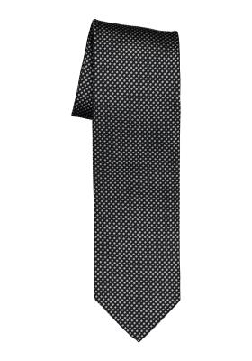 OLYMP stropdas, zwart met grijs motief