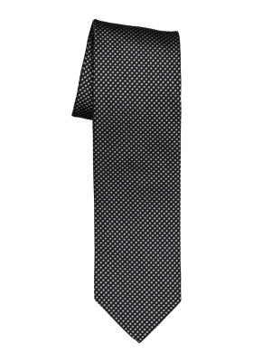 OLYMP stropdas, zwart / grijs motief