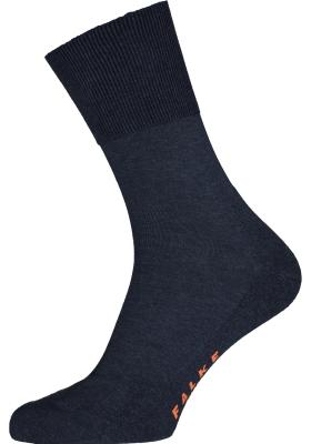 FALKE Run unisex sokken, marine blauw melange (navy blue melange)