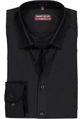 MARVELIS Body Fit overhemd, zwart