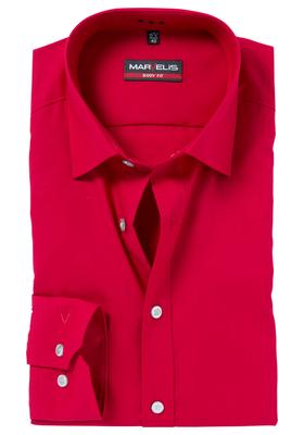 MARVELIS Body Fit overhemd, rood