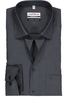 MARVELIS Comfort Fit overhemd, antraciet