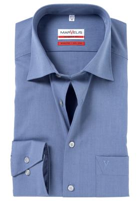 MARVELIS Modern Fit overhemd, rook blauw