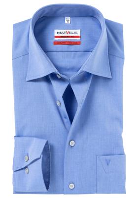MARVELIS Modern Fit overhemd, middel blauw