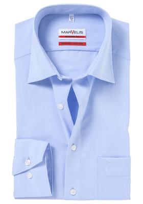 MARVELIS modern fit overhemd, lichtblauw