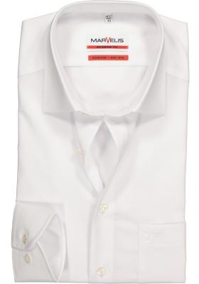 MARVELIS modern fit overhemd, mouwlengte 7, wit