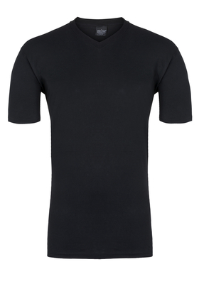 HOM Hilary Tee-Shirt V Neck, zwart
