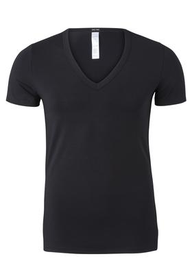HOM Smart Cotton Tee-Shirt V Neck, zwart