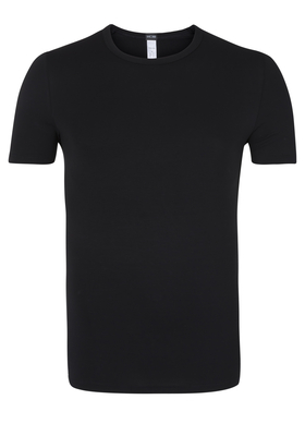 HOM Smart Cotton Tee-Shirt Crew Neck, zwart