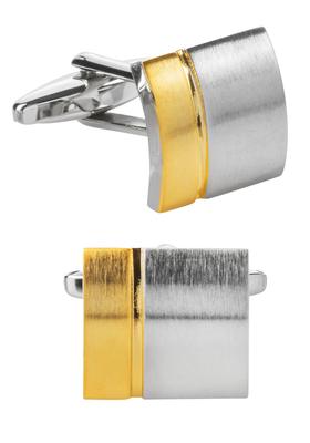 Manchetknopen, vierkant zilver / goud