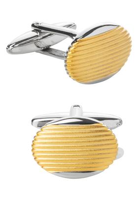 Manchetknopen, ovaal zilver / goud