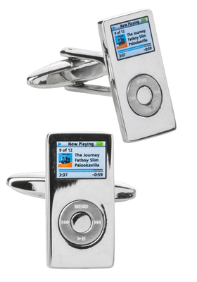 Manchetknopen zilver, MP3 speler