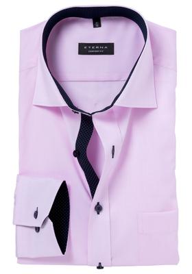 ETERNA Comfort Fit overhemd, roze fijn Oxford (Contrast)