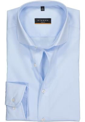 ETERNA slim fit  stretch overhemd, lichtblauw
