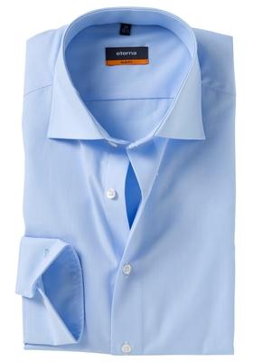 Eterna Slim Fit overhemd, lichtblauw (stretch)