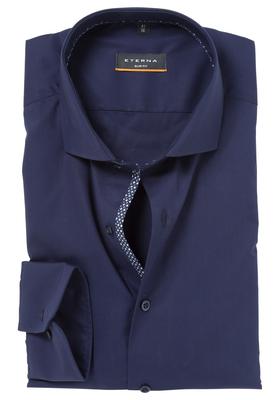 ETERNA Slim Fit Casual overhemd, blauw (stretch)