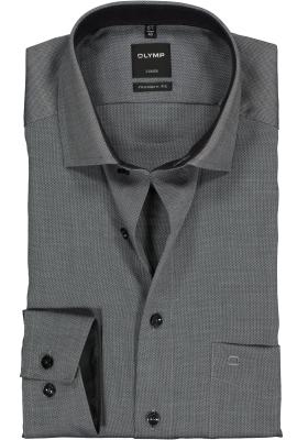 OLYMP Luxor modern fit overhemd, zwart met wit natté (contrast)
