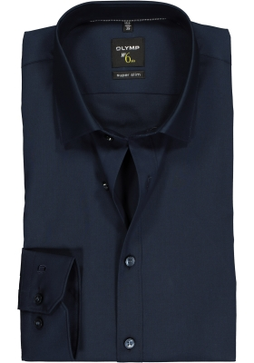 OLYMP No. Six super slim fit overhemd, marine blauw