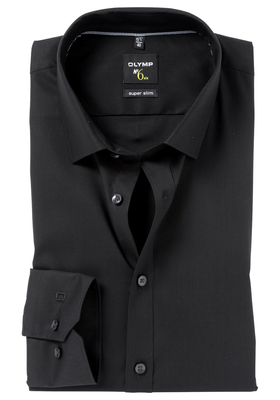 OLYMP No. 6 Six, Super Slim Fit overhemd (tailleringsnaden), zwart