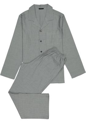 Schiesser heren pyjama, antraciet, klassiek model