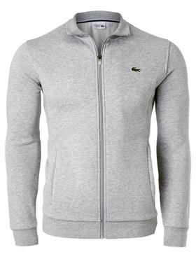 Lacoste heren sweatshirt, lichtgrijs (met rits)