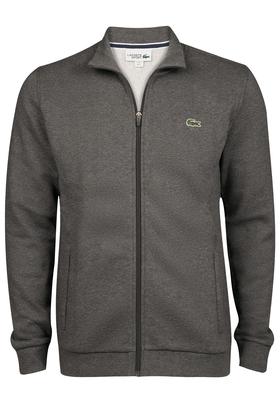 Lacoste heren sweatshirt, antraciet (met rits)