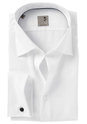 Seidensticker Tailored Fit mouwlengte 7, dubbele manchet, wit